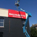 Hanging Our New Sign