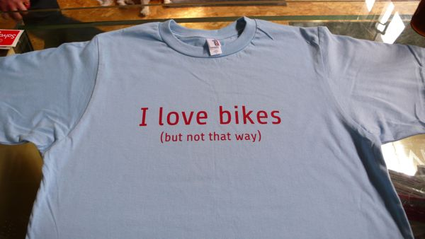 Blue Shirts that love bikes?