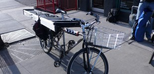 Xtracycle with a Ladder
